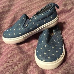 Gap NWOT canvas slip on w polka dot